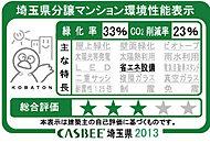 「アドグランデ朝霞台ブライトステージ」は、埼玉県建築物環境配慮制度に基づく評価システム「CASBEE埼玉県」の評価を受けております。