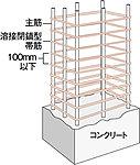 主要構造となる柱の帯筋には溶接閉鎖型帯筋及び高強度せん断補強筋を一部採用し、地震時に発生するせん断力に対応します。※柱構造イメージイラスト