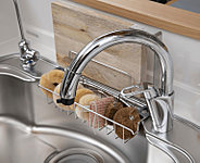 それぞれ独立した飲料水用の浄水器専用水栓とシングルレバー水栓を採用。食器の洗い物中でもお料理などの給水が可能なセパレートタイプです[選択制]