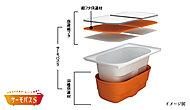 """浴槽保温材と保温組フタの""""ダブル保温""""構造で、お湯が冷めにくい浴槽です。"""