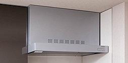 スタイリッシュなレンジフードを採用しています。レンジフードは、油煙の給気効率を高める整流板付きです。整流板はお掃除しやすくお手入れの簡単なホーロー製です。