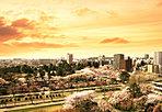 都心の利便と活気の中心に暮らす。空撮写真 ※掲載の航空写真は、現地付近上空から仙台駅方面を撮影したものに、一部CG処理をしています(2014年5月撮影)