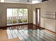 全戸リビング・ダイニングに導入しました。寒い冬でも安心・安全。温風暖房とは異なり均一した室温を保ち頭寒足熱の理想的な温かさを実現します。