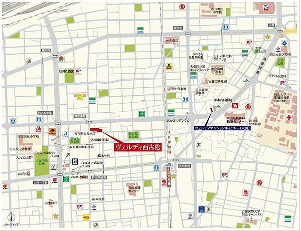 モデルルーム地図・現地案内図