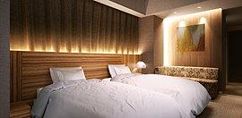 2階に設置された、宿泊が可能な迎賓空間。
