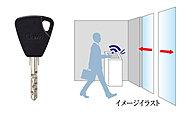かざすだけで解錠ができる非接触キーシステムを採用。買い物帰りで荷物が多い時などに便利です。