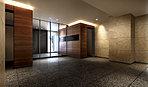 天然石を贅沢にあしらい、邸宅へと導くエントランス空間。邸宅の格調を語るエントランスは、天然素材をふんだんに用いて上質な空間に仕立てています。