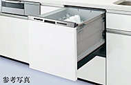 食器の出し入れがしやすい引き出し式の食器洗い乾燥機を採用。手洗いに比べ節水も可能です