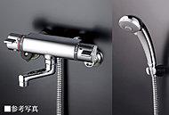 シャワーヘッドの操作で3つのシャワー(ソフト・レギュラー・ムーブシャワー)が選べます。
