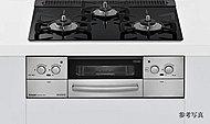 調理油の過熱や消し忘れを感知する安全機能。設定温度のキープや自動炊飯が可能な便利機能。フラットなリンナイ製セラミックガラス天板は汚れが付きにくく、お手入れも簡単です。
