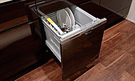 汚れの量や食器の量が少ないときに、より節水・省エネで運転できる機能がついた省エネナビ付き。