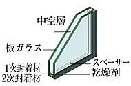 断熱性も兼ね備えたT-3(35等級)のペアガラスを採用しています。