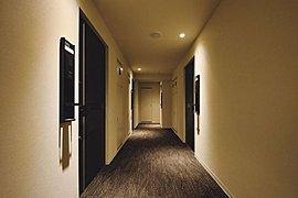 共用廊下を中心に私邸を配置することで、外部からの視線をシャットアウトした内廊下設計。プライバシーが守られ、外気にさらされることもありません。