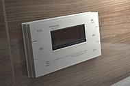 湯温・湯量・自動お湯はり・自動追い焚きなど多彩な機能を設定できる浴室リモコンです(同仕様)