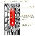 外周の比較的柔軟な住宅部分とは分離・独立した固い独立連層耐力壁(心棒)をタワー内部に設置。大地震により建物の骨格が受ける被害を低減。 ※概念図