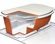 冷めにくい保温機能付浴槽「サーモバス」採用。トリプル保温でお湯が冷めにくいから、光熱費が節約でき、時間を気にすることなく好きな時間に入浴できます。