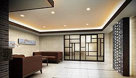 床や壁、天井にはシンプルな素材を用いながら、風合いを活かした印象的なデザインを取り入れることで、上質感と温もりある空気を創出。アートを設えたラウンジ空間にはソファも設置し、歓談や来客のご対応の場としてご利用いただけます。