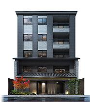 1階と2階は京町屋を意識した情緒あふれる和の造り。周囲の景観に優しくなじむ低層5階建の建物のうち、1階と2階は京情緒あふれる本格的な和の設えとしました。