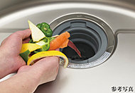 生ゴミをそのままキッチンシンクから処理できる生ゴミ処理システムを標準装備。