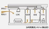 浴室暖房換気乾燥機に24時間換気機能を搭載。