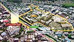 現地周辺航空写真(平成28年4月撮影)※CG加工を施したものです。※掲載の分数は現地からの徒歩分数(80mを1分で算出)です。