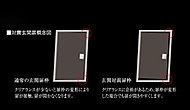 玄関ドアとドア枠の間にクリアランス(隙間)を確保。万一の時の避難に配慮した対震枠を採用しています。