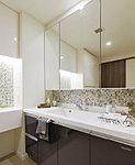 スクエアなボウル形状とマット仕上の天井板が高級感を演出。
