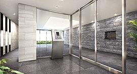 訪れた方を歓待の表情で迎え、シティホテルのような空気感で包み込むエントランスホール