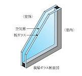 ガラスを2枚組み合わせて、間に空気層を入れた複層ガラスを採用。断熱性能が高いため、暖房効率が良くガラス面の結露やカビの発生を抑制します。