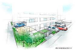 1階住戸専用駐車場完成予想イラスト