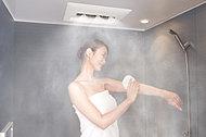 多機能な浴室暖房乾燥機にミストサウナ機能をプラス。霧状の細かい温水ミストが全身を包み込み、短時間で体を芯から温めます。※参考写真