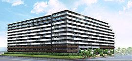 開放的な空をモチーフにした上層部の3層構成とし、3つの素材による建物の中でのコントラストが、全体的にバランス良く統合しながら、端正にして優雅、軽快さと安定感を感じさせるデザインとしました。