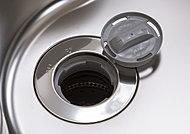 シンク内で生ゴミを粉砕処理できる機能付。生ゴミの臭いが軽減でき、キッチンをクリーンに保てます。
