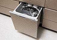 庫内に溜めた適量のお湯や水を効率的に循環させて洗う節水型食洗機。経済的で家事の負担を軽減する便利な設備です。