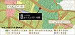 「中野」駅周辺の用途地域図
