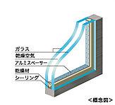 2枚のガラスの間にある空気層のおかげで、冷・暖房負荷を軽減。家計にもエコにも貢献します。