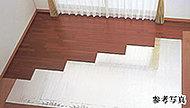空気を汚さずに部屋全体を足元から暖める、TES温水式床暖房を採用。簡単な操作で、温度調節やタイマー設定ができます。