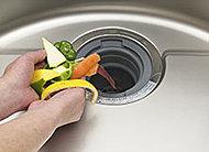 生ゴミを粉砕処理し、生ゴミの量を減らすことでCO2削減に貢献します。