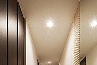 廊下やキッチンなどの照明には、省エネ・長寿命の「LED照明」を採用。消費電力量を抑え、効率の良い照明設備を採用しました。