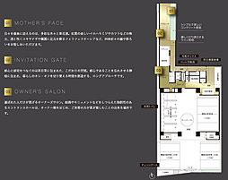 敷地配置図・1階平面イラスト