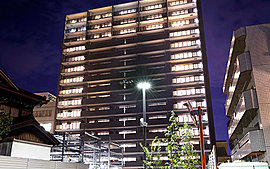 駅前の新たな顔となる、地上15階建ての堂々たるフォルム。※1