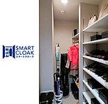 シューズインクロゼットを進化かせた玄関収納「SMARTCLOAK」を全邸に設置しました。