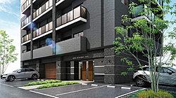 街に溶け込む都会的なエクステリアデザインが主張するのは、この住まいの品質の高さ。