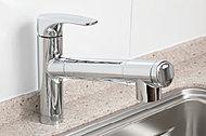 浄水・お湯・水に加えハンドシャワー機能も一体化。水・湯の間にクリック感を持たせるなど操作感にもこだわり、節水にも役立ちます。※カートリッジは初回のみ装備。※交換用カートリッジは別途ご負担となります。