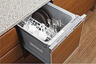 食後の片付けの手間を軽減できる食器洗い乾燥機を採用。手洗いに比べて省エネ効果も期待できます。