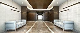 エントランスホールには、ホテルライクな優美さを。住まう片、訪れる方をあたたかく迎えるエントランスホールには、まるでホテルのような洗練された表情をデザイン。
