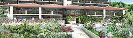 伝統の趣で魅せる赤瓦の棟。第1棟としての風格をたたえ、城下に彩りを挿す佇まい。1階住戸は専用庭付き、2階住戸は開放感を高めるワイドバルコニーを設えて。光彩豊かな空間にてお迎えします。