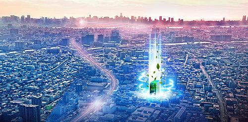 空撮 ※掲載の航空写真は現地付近の航空写真(2021年3月撮影)に一部CG処理を施したもので、実際とは異なります。