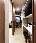 主寝室と廊下側から7出入りできる2way仕様のファミリークロゼット。中に入って見渡せるので、スムーズな収納を実現します。※1