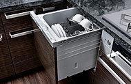 洗浄性を高める「サークルラック」を採用したビルトインタイプ。約5人分の食器37点を一度に洗浄することが可能。 ※日本電気工業会自主基準による。
